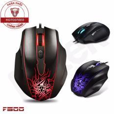 Chiết Khấu Chuột Game Thủ Motospeed F500 Dpi 3200 Optical Gaming Mouse Led Thay Đổi Theo Dpi Đen Motospeed