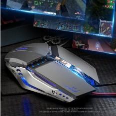 Hình ảnh Chuột Gaming OXE X800 LED 3200dpi Cao Cấp 7D ( Xám )