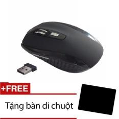 Hình ảnh Chuột không dây 6D 7500+Tặng miếng lót chuột(đen)