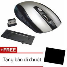 Hình ảnh Chuột không dây 6D 7500+Tặng miếng lót chuột(Ghi)