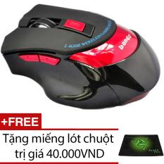 Ôn Tập Trên Chuột Khong Day Chuyen Game Banda Bd4000 Đỏ Đen Tặng 1 Miếng Lot Chuột