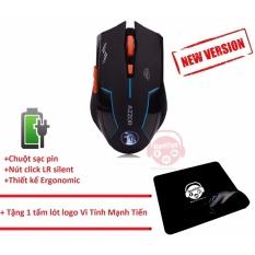 Hình ảnh Chuột không dây dùng pin sạc AZZOR phiên bản mới + Tặng Mousepad Vi Tính Mạnh Tiến
