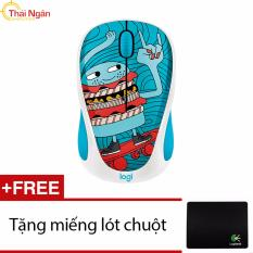 Giá Bán Chuột Khong Day Logitech M238 Doodle Collection Skateburger Tặng Lot Chuột Hang Phan Phối Chinh Thức Logitech