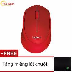 Ôn Tập Chuột Khong Day Logitech M331 Silent Đỏ Tặng Miếng Lot Chuột Hang Phan Phối Chinh Thức