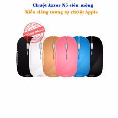 Chuột Khong Day Pin Sạc Azzor N5 Sieu Mỏng Trắng Mới Nhất