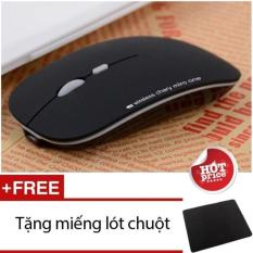 Hình ảnh Chuột không dây sạc pin AZZOR N5 + Tặng miếng lót chuột (đen)