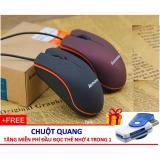 Chuột Quang Chân USB + Tặng Đầu Đọc Thẻ Nhớ Đa Năng, Tốc Độ Cao (All in one)