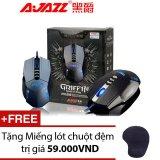 Giá Bán Chuột Quang Cho Game Thủ Ajazz Griffin 4000Dpi Pro Gaming Xam Tặng Miếng Lot Chuột Co Đệm Ajazz Nguyên