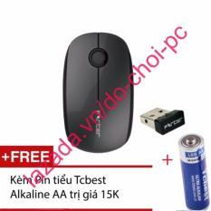 Hình ảnh Chuột quang không dây forter v189 kèm pin Tcbest alkaline AA trị giá 15k (đen)