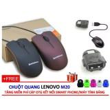 Chuột quang Lenovo M20 + Tặng chân kết nối OTG kết nối Smart phone/Máy Tính Bảng