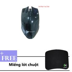 Bán Chuột Quang Vision V200 Tặng 1 Miếng Lot Chuột Chơi Game Trực Tuyến Trong Đồng Nai