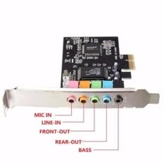 Hình ảnh PCI-Express CMI8738 6-Channels Digital Audio Sound Card SFF For Win 7/XP 24bit - Intl (Đen)