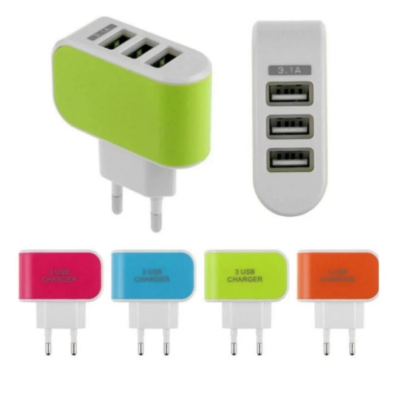 Cóc sạc 3 cổng USB cao cấp 450