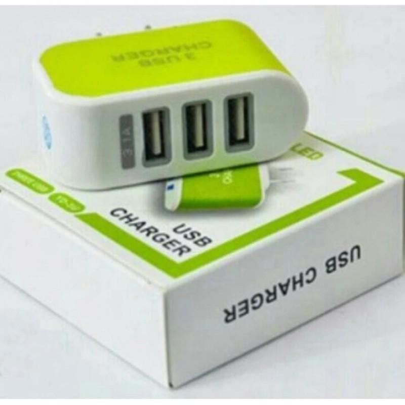 Cóc sạc 3 cổng USB TTP-217 (Xanh lá)