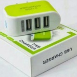 Cốc sạc chuyên dụng đa năng 3 cổng USB ( xanh lá)