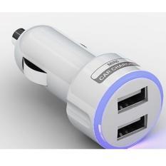 Hình ảnh Cốc sạc điện thoại trên xe hơi, ôtô 2 cổng USB 2.1A