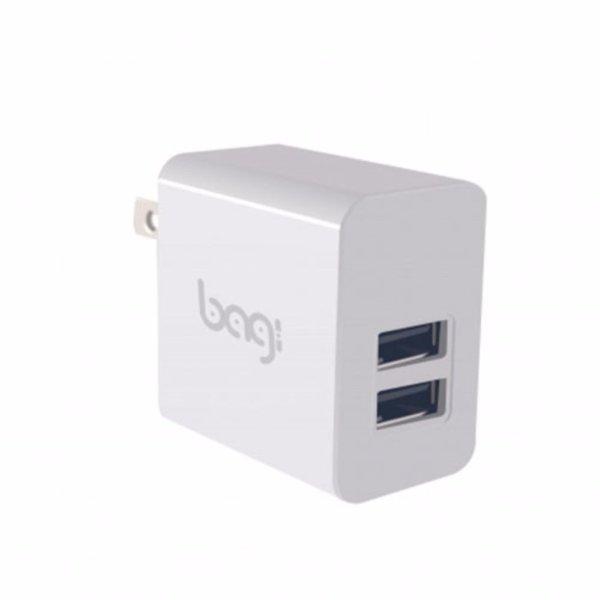 CỐC SẠC NHANH BAGI 2 ĐẦU USB VỚI CHIP BGPOWER