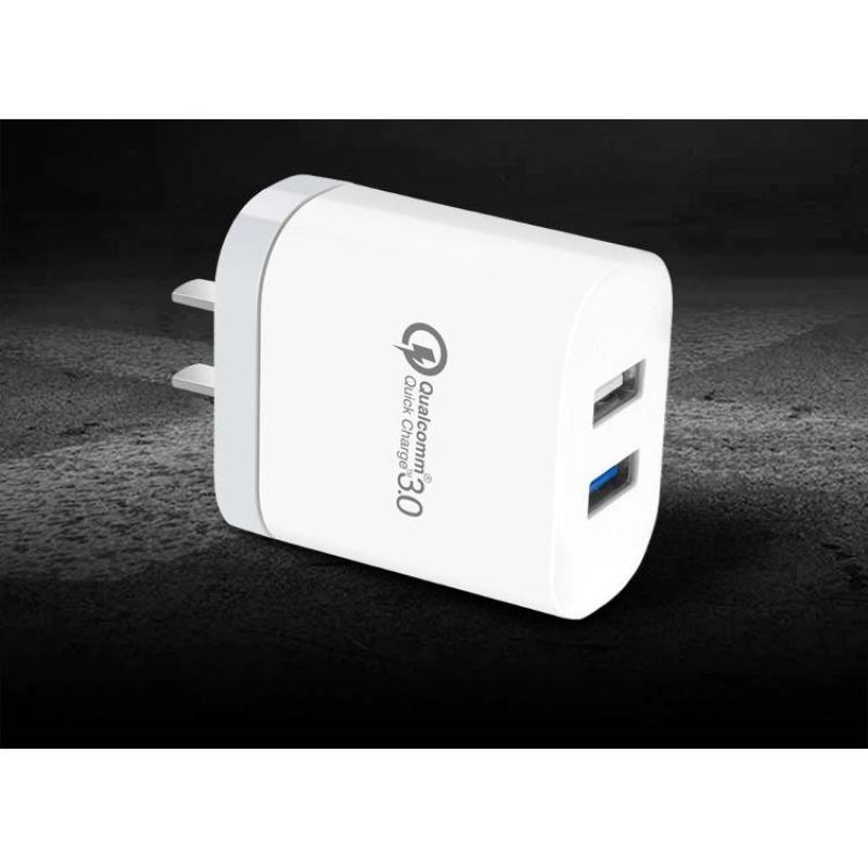 [ SIÊU RẺ ] CỐC SẠC NHANH QUICK CHARGE 3.0 2 USB XO L18