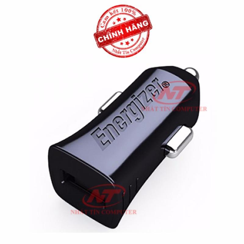 Cốc Sạc Ô tô Energizer 1A 1 cổng USB (Đen) - Hãng phân phối chính thức