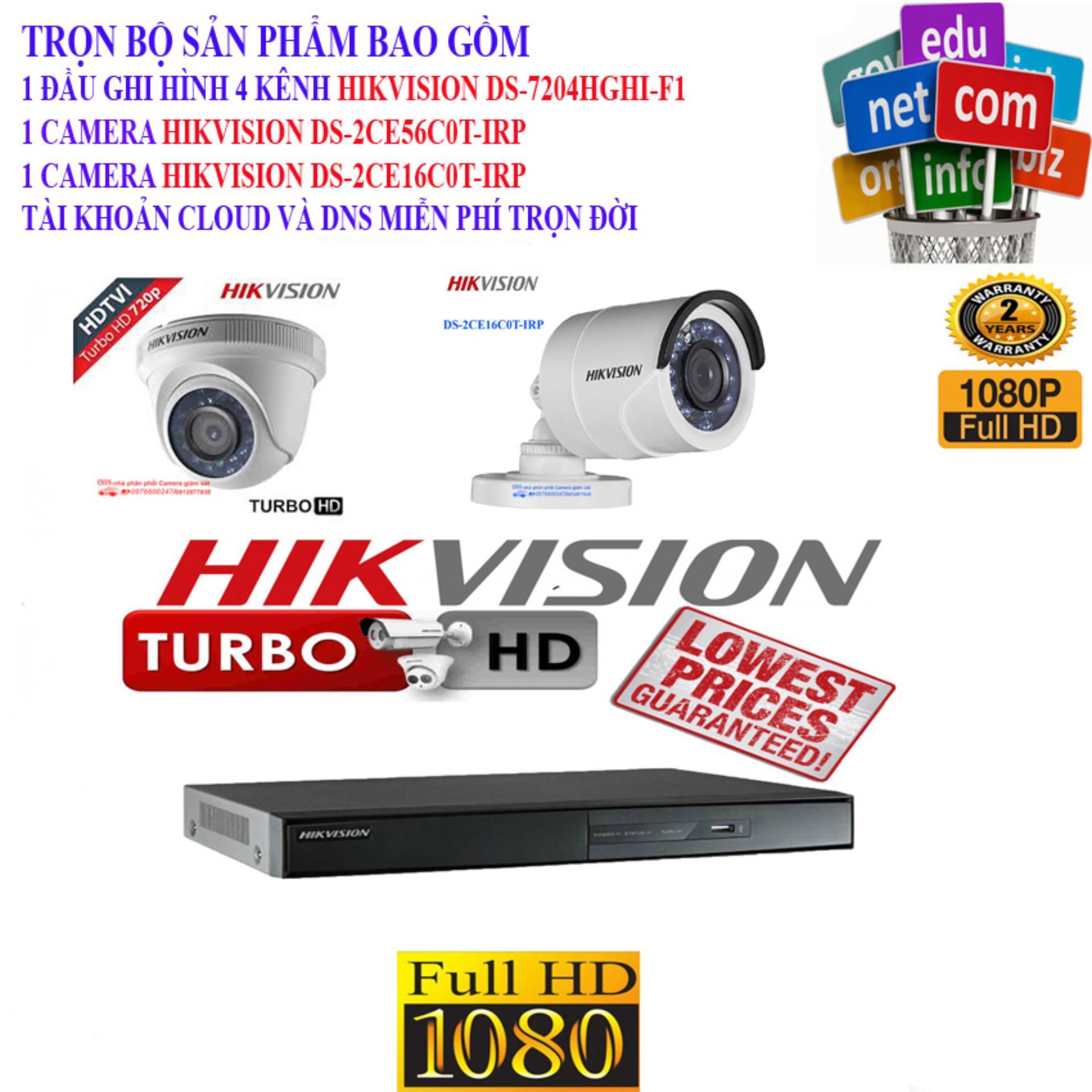 Combo 1 Đầu Ghi Hình 4 Kênh Hikvision Ds-7204Hghi-F1