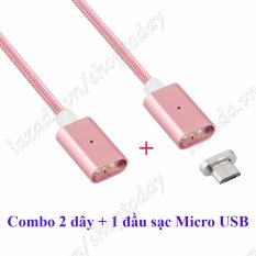 Mua Combo 2 Day Nạp 1 Đầu Micro Usb Cho Android Samsung Dung Nam Cham Va Nylon Chống Đứt Nhiều Mau