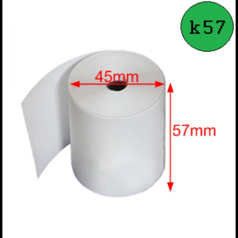 Combo 30 Cuộn giấy in hóa đơn khổ K57 Ø45 cho máy in Xprinter ,Apos ,Antech , và các dòng máy 58 Khác