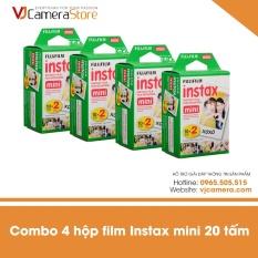 Giá Combo 4 Hộp Film cho máy ảnh Fujifilm Instax Mini chính hãng (hộp 20 tấm) - độ bền lên tới 40 năm - Hãng phân phối chính thức