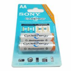 Ôn Tập Combo 4 Vỉ 2 Pin Sạc Aa Sony Cycleenergy 4600 Mah Trắng None