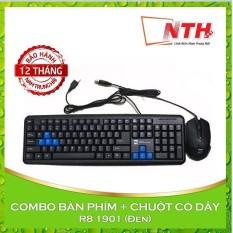 Hình ảnh COMBO Bộ bàn phím và chuột có dây R8 1901 (Đen)