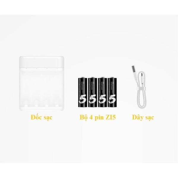 Giá Combo Bộ sạc Xiaomi PB401 + Hộp 4 Pin sạc AA Xiaomi Zi5