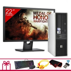Hình ảnh Combo Máy tính để bàn HP DC 7800 SFF + Màn hình DELL 22inch Full HD (Core 2 Duo E7500, Ram 4GB, HDD 500GB) + Quà Tặng - Hàng Nhập Khẩu