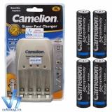 Giá Bán Combo Pin Sạc Cao Cấp Camelion Bc0905A 4Pin Aa Hyperpro Nguyên Camelion