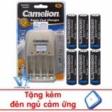 Combo Pin Sạc Cao Cấp Camelion Bc0905A 6Pin Aa Hyperpro Camelion Chiết Khấu 40