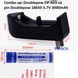 Bán Combo Sạc Doublepow Dp K03 Va Pin Dung Lượng Cao Doublepow 18650 3 7V 3000Mah Trực Tuyến Trong Hà Nội