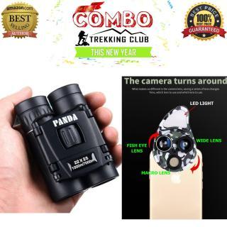Combo sản phẩm dành riêng cho các bạn hay đi du lịch ngắm cảnh, chụp ảnh với ống nhòm đôi Panda tầm nhìn xa lên tới 7000m + Bộ Lens điện thoại đa năng 4in1 chụp Wide, Macro, Fisheye thumbnail