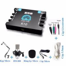 Combo Sound Card Thu Am Karaoke Livestream Online Chuyen Nghiệp Xox K10 Hà Nội Chiết Khấu 50