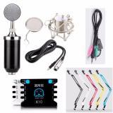 Combo Sound Card Thu Am Karaoke Livestream Online Chuyen Nghiệp Xox K10 Micro Bm 8000 Day Live Stream Chan Đế Nb35 Trong Hà Nội