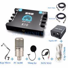 Ôn Tập Trên Combo Sound Card Thu Am Karaoke Livestream Online Xox K10 Va Pc K200