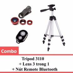 Combo Tripod 3110 Lens 3 Trong 1 Nut Remote Bluetooth Oem Chiết Khấu 30