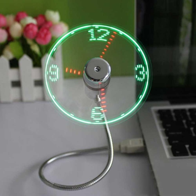 Bảng giá Creative Portable Flexible USB Clock Fan With LED Light Real Time Display - intl Phong Vũ