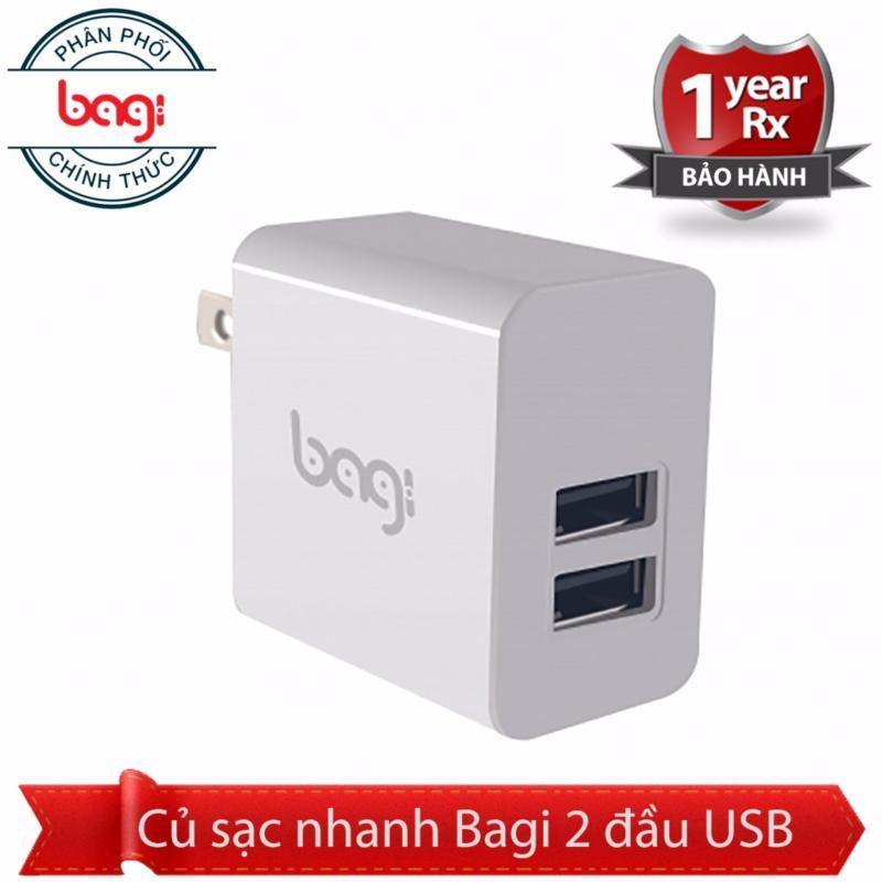 Giá Củ sạc nhanh Bagi 2 USB - chíp BGPower chính hãng