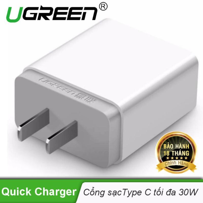 Củ sạc nhanh cổng USB type C chân cắm kiểu USA UGREEN CD127 20760 - Hãng phân phối chính thức