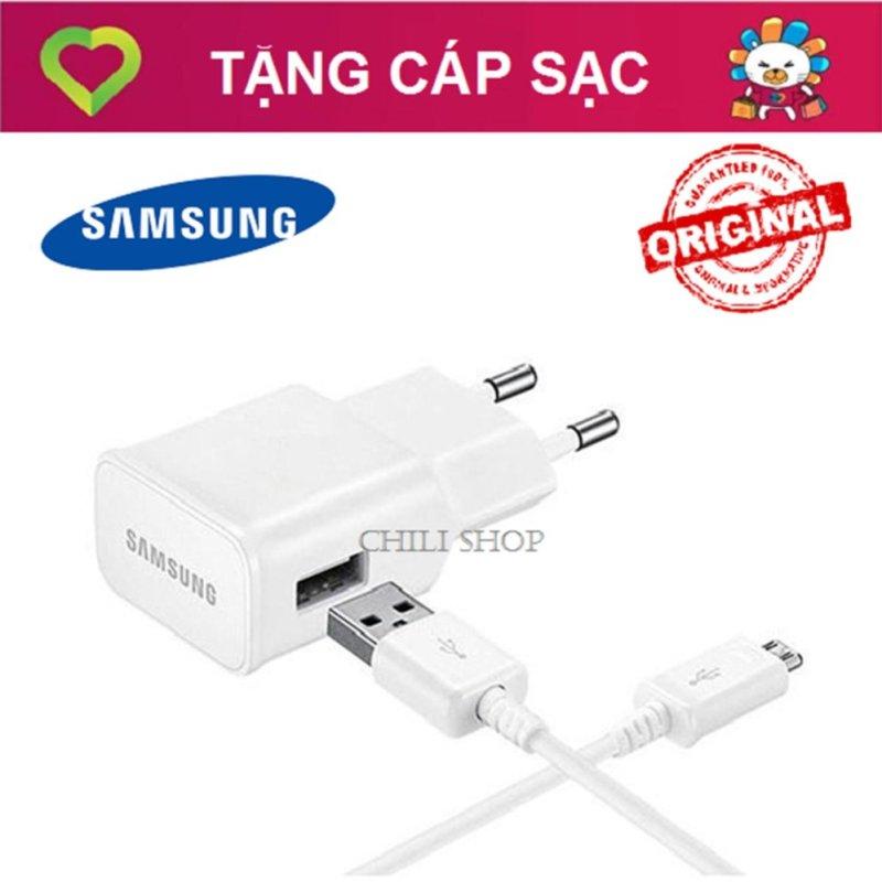 Củ sạc Samsung Galaxy Tab E (9.6 inch) (Trắng) - Tặng dây cáp - Hàng nhập khẩu