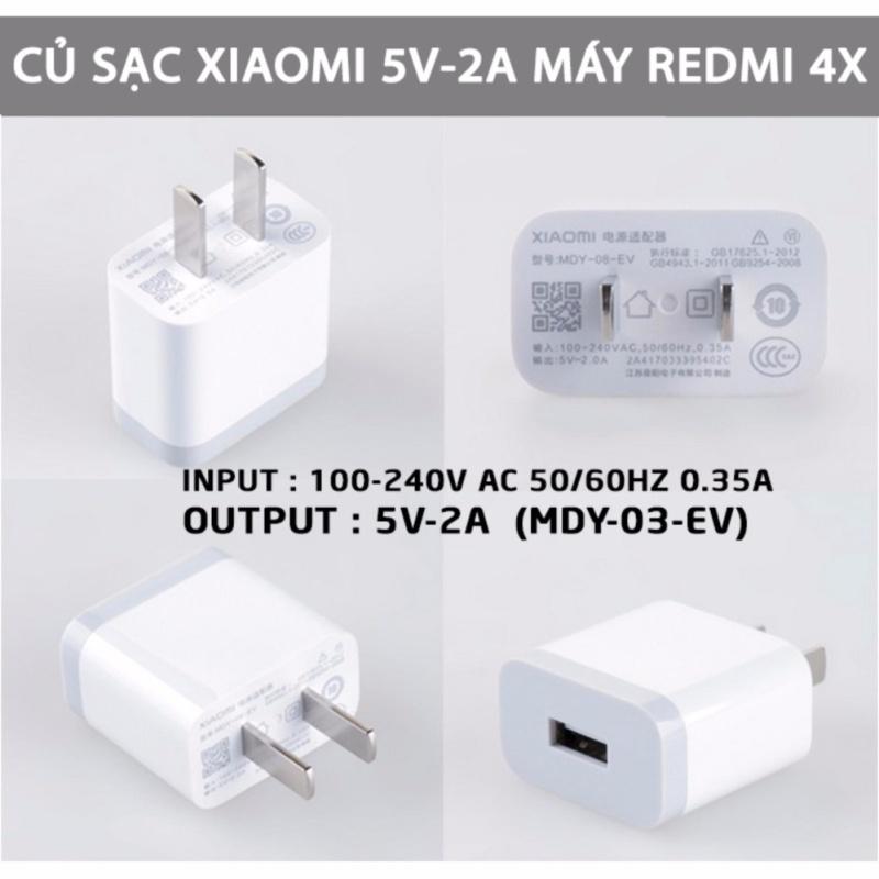 Củ Sạc Xiaomi Redmi 4X MDY-08-EV 5V/2A - Hàng Nhập Khẩu