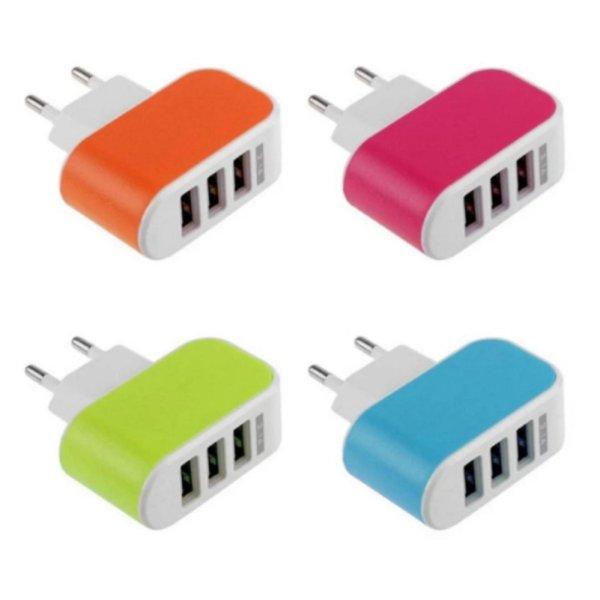 [HCM]Cục sạc điện thoại  đa năng 3 cổng USB TTP-217
