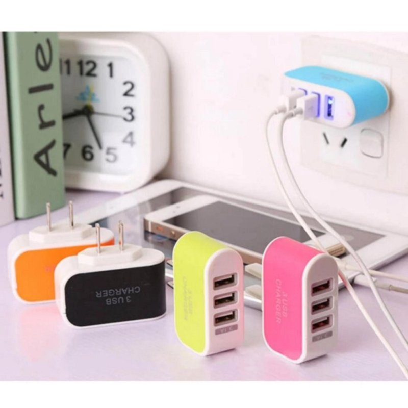 Cục sạc điện thoại   3 cổng USB 3.1A.
