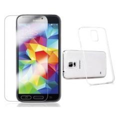 Cường lực cho Samsung Galaxy S5 + Ốp Lưng Dẻo Silicon