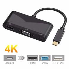 Hình ảnh Cwxuan USB 3.1 Loại C sang 4 k HDMI, VGA 3.5 mét Âm Thanh, adapter USB 2.0-quốc tế