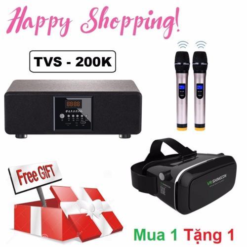 Dàn âm thanh hát Karaoke Đỉnh Cao TVS-200K hỗ trợ kết nối Bluetooth đi kèm  2 Micro cao cấp trị giá 2 triệu đồng Tặng kèm Kính VR xem phim chơi game ...