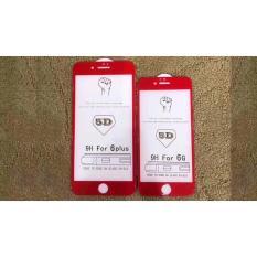 Dán cường lực 5D Full màn hình iPhone 6/6S Plus màu đỏ
